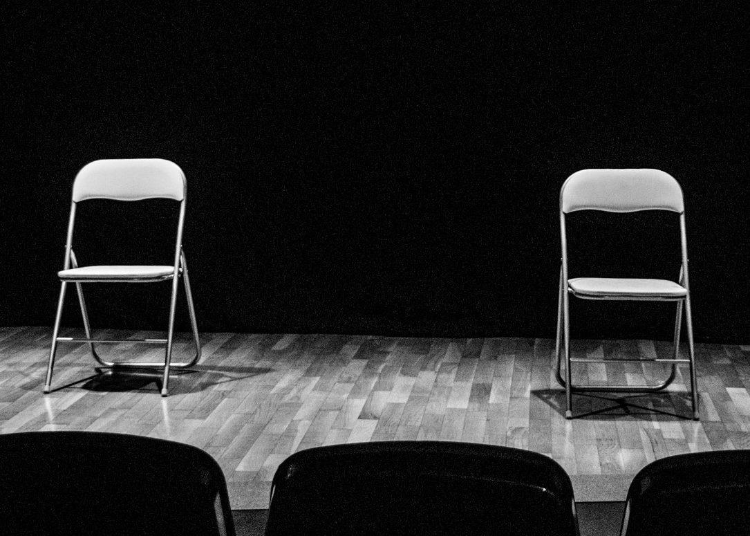 Fotografía del escenario de la Sala de Teatro Intermitente Valacar.