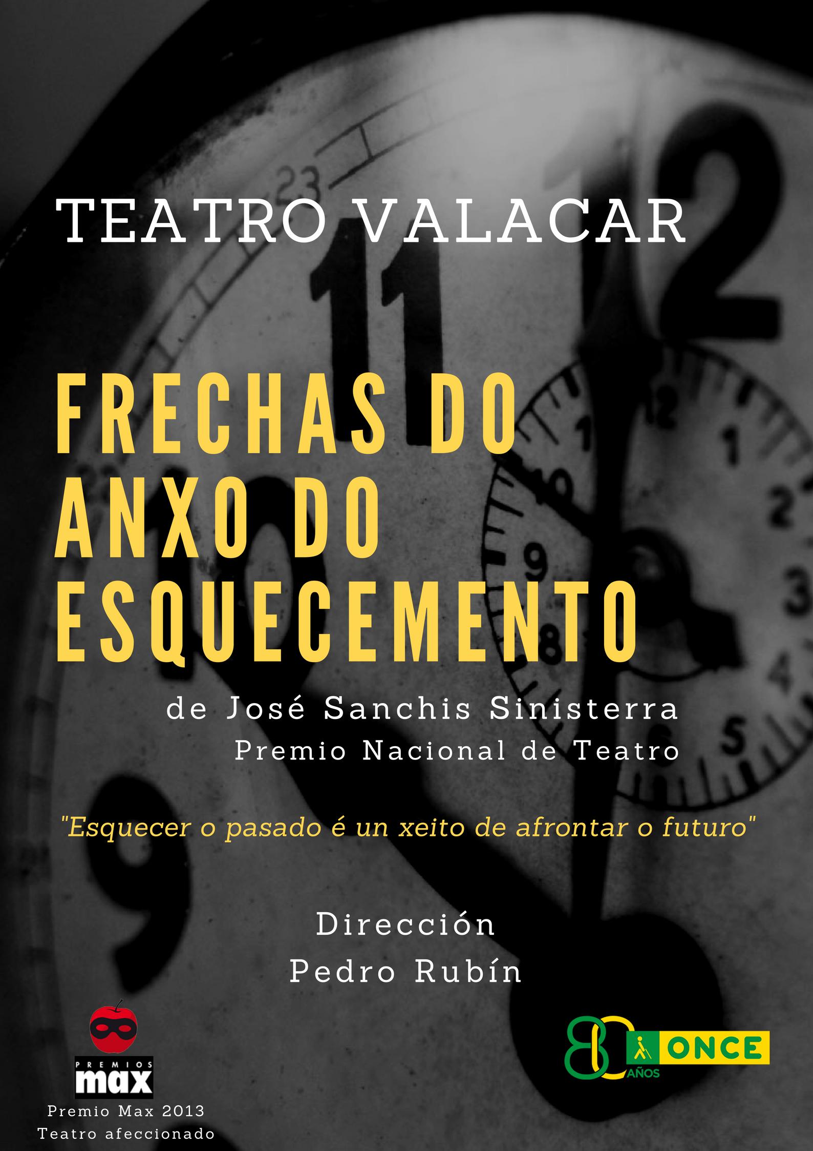 """Imagen del cartel del espectáculo """"Frechas do anxo do esquecemento"""" de Sanchis Sinisterra."""